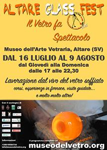 Altare Glass Fest, dal 19 luglio al 9 agosto 2015, Altare (SV), Museo dell'arte vetraria altarese (patrocinio)