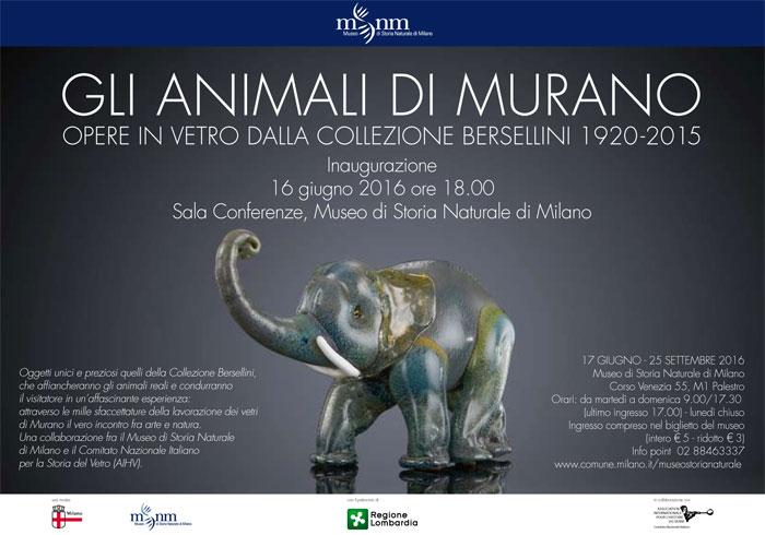 Gli animali di Murano. Opere in vetro dalla Collezione Bersellini 1920-2015