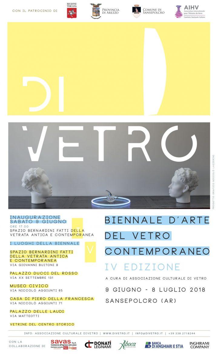 DIVETRO. IV Biennale d'Arte del Vetro Contemporaneo, SANSEPOLCRO (AR), 9  giugno - 8 luglio 2018(Patrocinio)