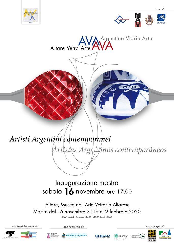 ALTARE VETRO ARTE - ALTARE VIDRIO ARTE 2019. Artisti argentini contemporanei (Patrocinio)